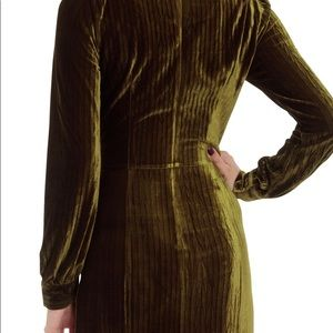 9282f4ed33be Voodoo Vixen Dresses - Voodoo Vixen olive green velvet long sleeve dress